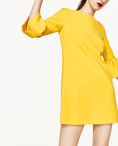 Zara kleider gelb