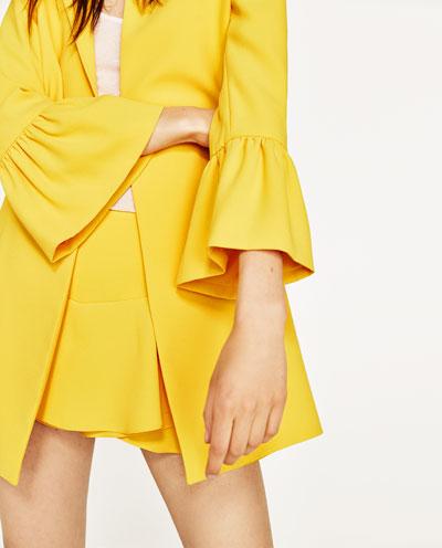Kleid gelb zara
